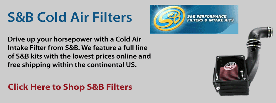Cold Air Intake Kits from S&B Filters