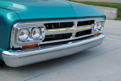 67 70 Chevy Gmc Pickup Sub Blz Smoothie Front Bumper Chrome Keyparts Slc 001