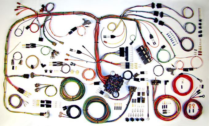 american autowire 510289 1970 1974 cuda challenger classic update wiring harness kit 70 cuda wiring diagram at fashall.co