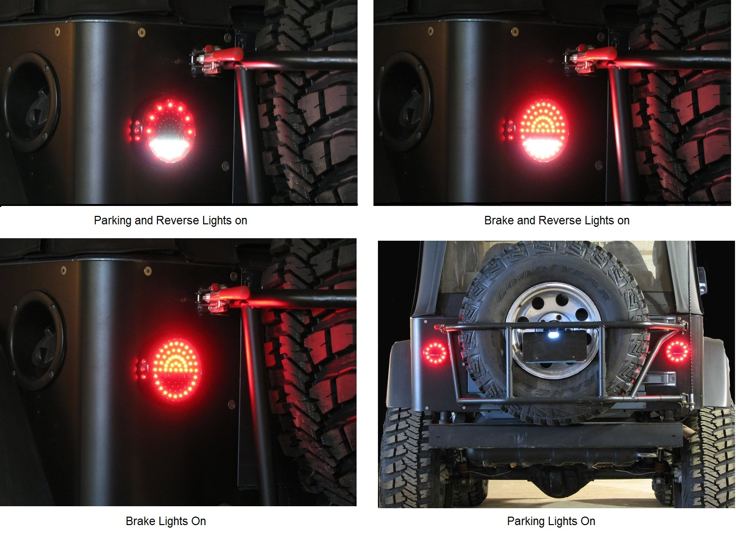 Off Road Only Led Litedot Taillights For 76 06 Jeep Cj