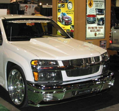 04-06 Chevy/GMC Colorado/Canyon Cowl Induction Steel Hood ...